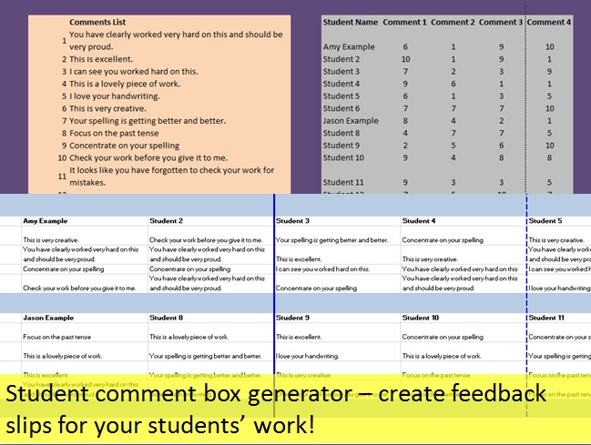 Student comment report tool thumb